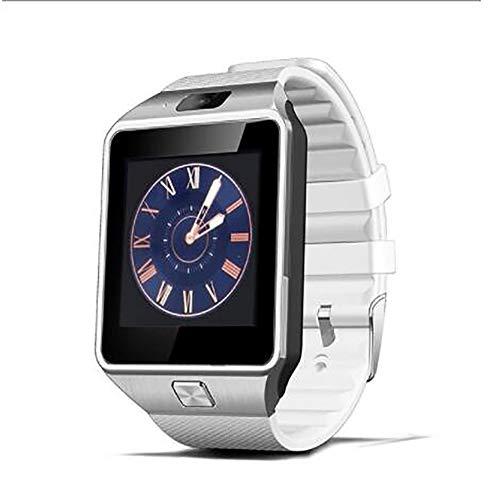 MeterMall DZ09 Smart Watch Bluetooth Positioning Mobiele Telefoonkaart Stappenteller Anti-Verloren Draagbaar Apparaat wit