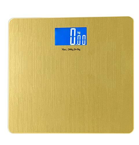 Bilancia da bagno digitale in vetro extra largo, colore: oro