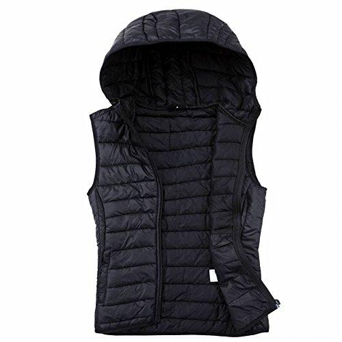 EXUMA Damen Sportbekleidung Aufgeblasen Westen, Black, L