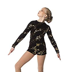 Gold Sequin Dance Biketard Leotard