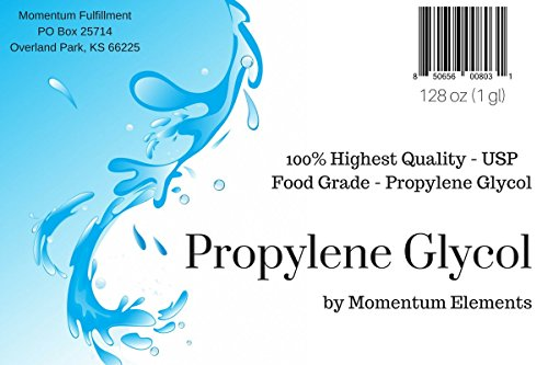 Propylene Glycol 99.9% Pure USP - 1 Gallon (128 oz) Food Grade Kosher Made in the USA