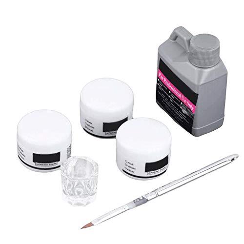 Gelentea 6 Stks Draagbare Nagel Art Tool Kit Kristal Poeder Acryl Vloeibare Vaatwasser Nagel Art Gereedschap Decoratie Starter Set