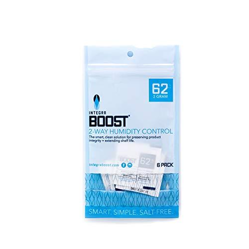 Integra BOOST RH 2-Way Humidity Control, 62 Percent, 2 Gram (Pack of 6)