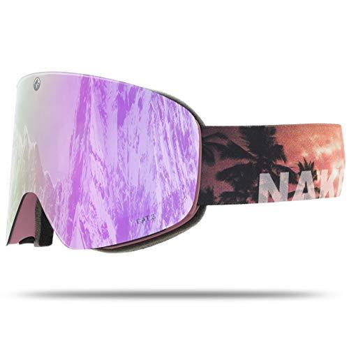 NAKED Optics Troop EVO Palms (Purple Lens), inkl. Schlechtwetterglas