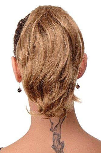 WIG ME UP - Postiche extension natte blond foncé courte look rebelle avec pince-papillon pour le maintien 20 cm T6545-22