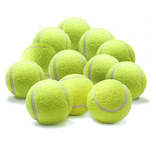 Milopon Tennis Balls Gelb Professionelle Training Tennisbälle Hohe Elastizität Practice Ball Outdoor Sports Spielzeug Tennis Ball für Haustiere Hunde Katze (3PCS)