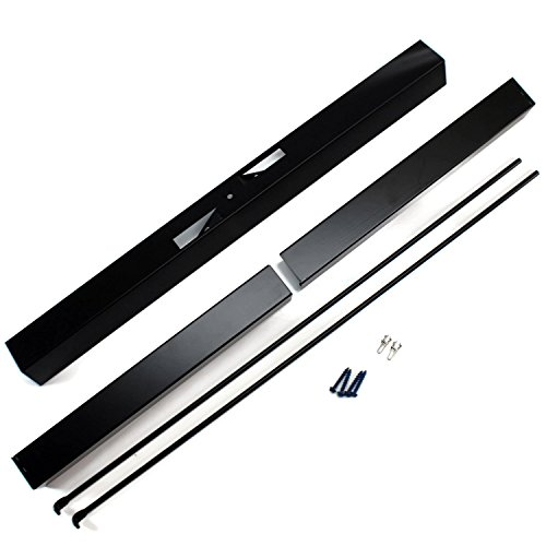 Midwest Hearth Adjustable Rod and Valance Kit for Fireplace Spark Screens (Newest Version)