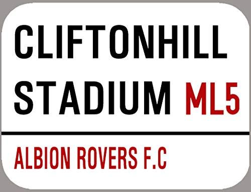 Inga Albion Rovers Plaque décorative rétro en métal Motif football 8 x 30,5 cm