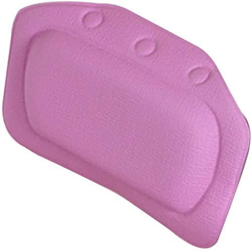 DALUXE Bath PVC Oreiller et Mousse, Respirant Maille 3D Oreiller Bain pour la tête et du Cou, adapté à Tous Les Types de Baignoire pour la Maison Bain à remous Spa,Violet