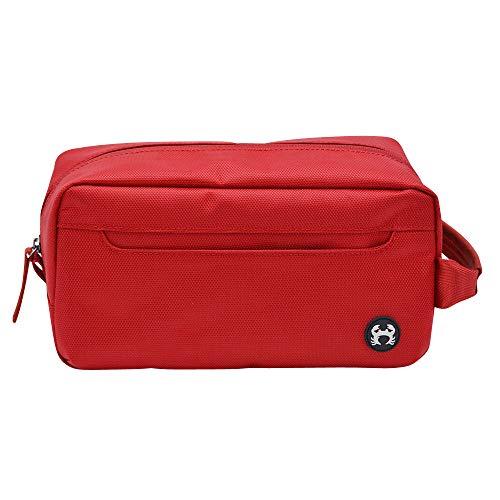 BagSy Crab Your Bag - Borsa da toilette di alta qualità | Accesori da viaggio | Beauty Travel Case | Borsa da viaggio ultraleggera, impermeabile e spaziosa per uomini e donne | (rosso)