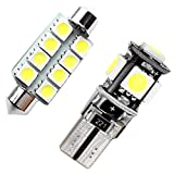 2Pcs Bianco Car Interior Light per POLO MK5 Luci targa Lampade Mappa LED Lettura Bulbi...