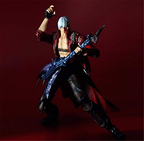 WAHE POP PA Change Devil May Cry 3 Dante Movable Model Toy Statue Model Desktop Decoration, PVC Collection Craft Decoration Gift is About 23CM High