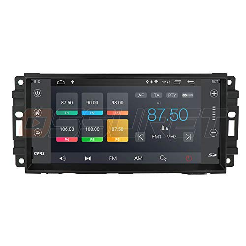 Android 10 Autoradio Stereo 7 pollici Touchscreen Lettore video Autoradio Fit per Chevrolet Chrysler JEEP Dodge Supporto Navigazione WiFi Bluetooth DAB Mirrorlink Controllo del volante