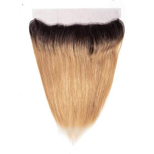 Natürliche Haarteile Gerade Haar Frontal Ohr zu Ohr Spitze Frontal Verschluss 13 * 4 Menschenhaar Mit Verschluss Braune...