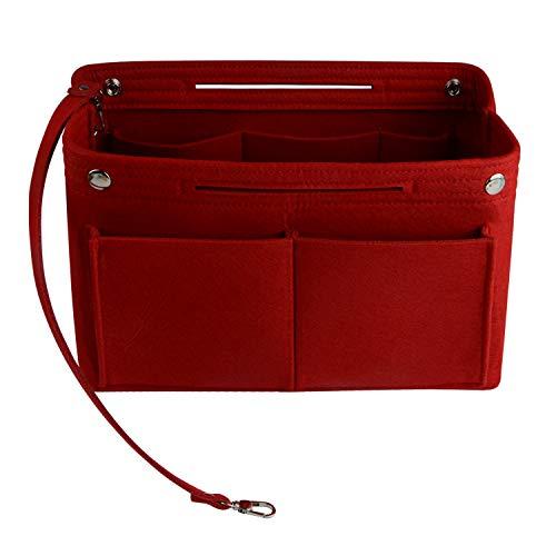 NOTAG bolso organizador Insertar Organizador multipockets fieltro organizador de bolso bolsa en bolsa pequeña bolsa de almacenamiento con 2 botones cabe en bolso para niñas, 2...