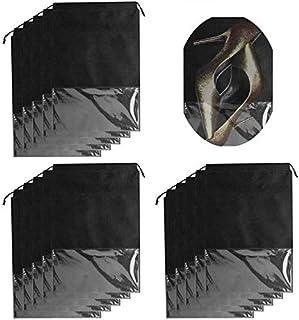 Bottes et Talons Hauts Noir Grande Taille Speed Sell EU Lot de 15 Sacs de Rangement /à Cordon de Serrage Transparents pour Chaussures de Sport