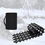 Homeon Wheels Portable Tire Traction Mats, 33-Inch Car Vehicle Tyre Grip Recovery Tracks Boards Off Road Traction Mat- Truck in Snow, Ice, Mud and Sand (Black 1)