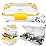 Spice Amarillo Inox Trio Scaldavivande Lunch Box 40 W + Vaschetta acciaio inox estraibile con...