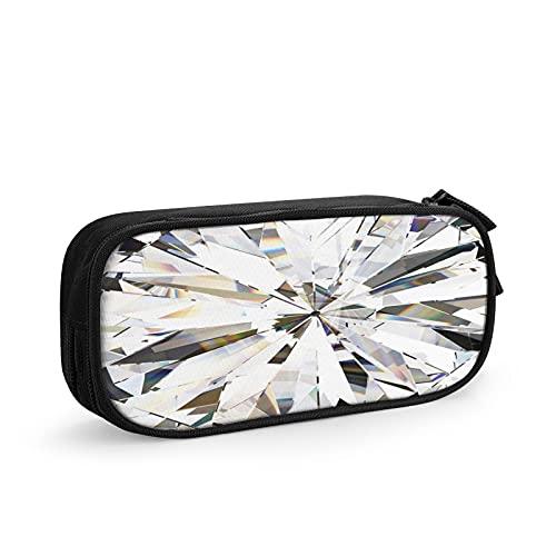 Cristallo Realistico Diamante 67 Astuccio Grande Capacità Astuccio Multifunzione Con 2 Cerniera Scomparti per Ragazzo e Ragazza