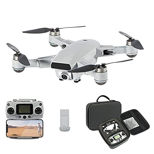 WECDS Drone 4K con videocamera UHD per Adulti, quadricottero RC Pieghevole con Ritorno Automatico, Motore Senza spazzole, modalità Senza Testa, Trasmissione a 5 GHz