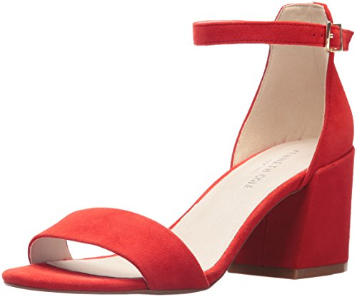 Kenneth Cole New York Women's Hannon Block Heeled Sandal with Ankle Strap, Persimmon, 9 M US (Persimmon Block)