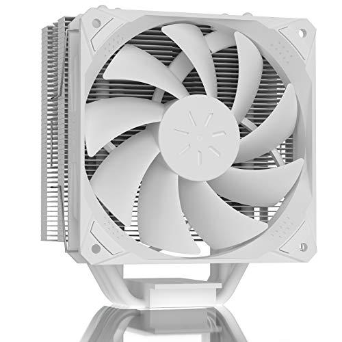 upHere Ventilador para CPU de 120 mm, disipador de CPU de 5 tubos de calor de contacto directo continuo, compatibles con Intel y AMD, N1054WT