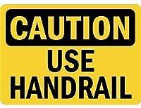 注意のために手すりサイン金属警告サインを使用してください