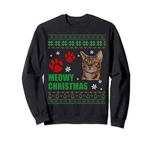Meowy Bengal Cat Merry Christmas Bengal Cats Sweatshirt