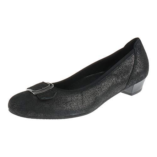 Gabor 9622480 - Scarpe da donna con tacco ballerina, colore: Antracite, Grigio...