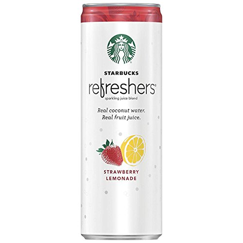 Starbucks, Refreshers with Coconut Water, Strawberry Lemonade, 12 fl Oz. Cans (12 Pack)