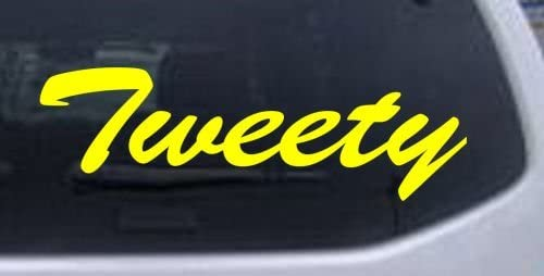 8in X 2 7in Yellow Tweety Car Window Wall Laptop Decal Sticker product image