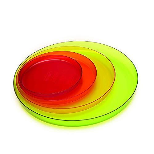 ZAK Designs Top Shop 2073-110 - Juego de 4 platos de color para cocina (diámetro: 16, 20, 25, 32 cm)
