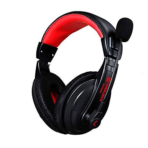 YMYGCC Gaming Headset Gaming Headsets Over Head Subwoofer Super Bass Stereo-Kopfhörer-Kopfhörer Tide Computerspiele Gaming Headset mit Mic for PC Gamer 89