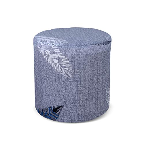 Frjjthchy Stretch Ottoman Slipcover Furniture Protector Cover with Elastic Bottom (Feathers)