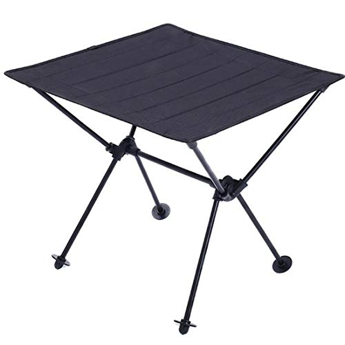 JIXIAO Camping Supplies Outdoor Camping Portable Light Folding Table Oxford Cloth Aviation Aluminum Picnic Barbecue Table (Color : Black)