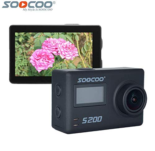 16GB TF Card+SOOCOO S200 4K WiFi Sports Action Camera 2.45