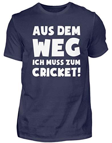 Kricket: Muss zum Cricket! - Herren Shirt -S-Dunkel-Blau