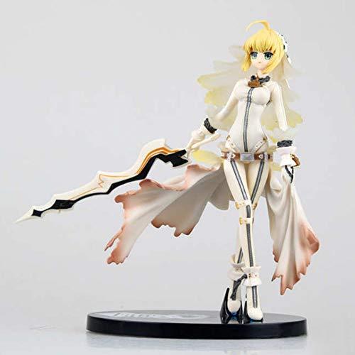Yifuty 8 Zoll gelb mädchen stehende Pose Nero brautkleid SEBA handgemachte Modell Basis Ornament Boxed Geschenk für Freunde