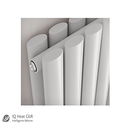 Design Paneelheizkörper Forte Duo zweilagig weiss - Vertikal Heizwand Heizkörper Badheizkörper (H 1800 mm x B 236 mm)