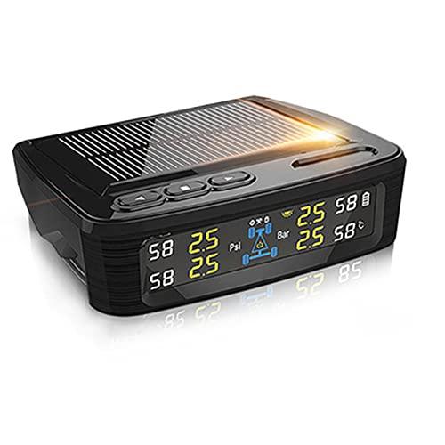 Monitor Automático De Temperatura De Presión De Neumáticos Neumáticos Mesa Medición Precisa Alta Presión Aire Monitoreo VehíCulos Sensor Externo Solar Equipo