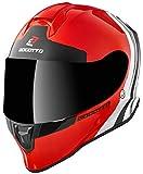 Bogotto V151 Wild-Ride Helm Rot/Schwarz/Weiß XL