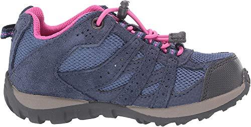 Columbia Unisex-Kid's Youth Redmond Waterproof Hiking Shoe, Bluebell/Pink ice, 5 Regular US Big Kid
