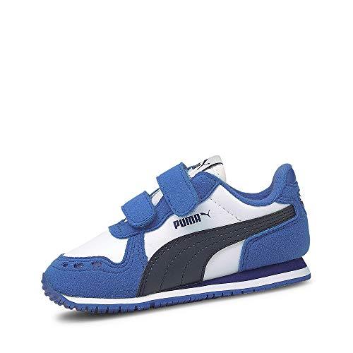 Puma Unisex Baby Cabana Racer SL V INF Sneaker, White-Peacoat-Star Sapphire, 24 EU