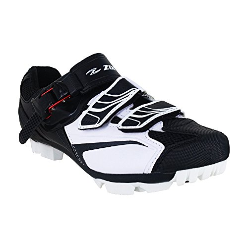 Zol Trail Plus MTB indoor scarpe da ciclismo, White with Black, 44 CM (EU)/ 11 (US)