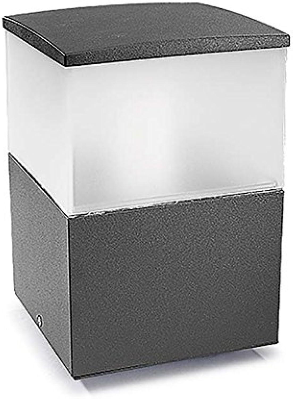 23cm Sockelleuchte Cubik  Farbe  Grau