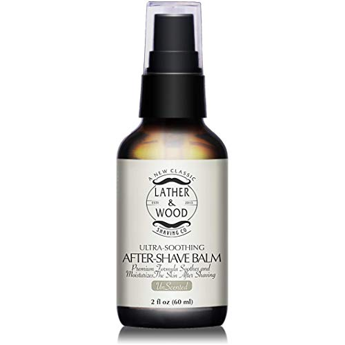 Best After-shave Balm, Unscented, Premium Aftershave Lotion, Soothes and Moisturizes Face after shaving, Does Not Dry The Skin, Eliminates Razor Burn For A Silky Smooth Finish ...