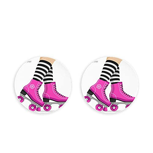 Lindo abridor de bebidas de patines de ruedas retro 2 piezas imán de nevera imanes de nevera