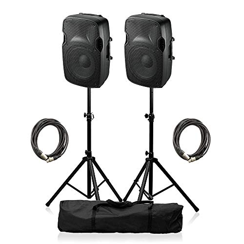 "Ibiza Sound XTK8A Aktivlautsprecher 8\"" 400W Soundsystem DJ Disco Paket"