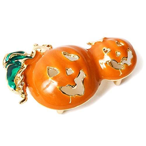 [でぃあじゃぱん] 帯留め ハロウィン オバケ かぼちゃ ジャックオランタン オレンジ 日本製 和装小物