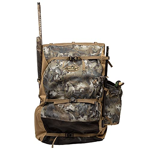 Rig'Em Right Waterfowl Refuge Runner Decoy Duck Hunting Backpack with Deluxe Padded Backrest and Shoulder Straps (Gore Optifade Timber Camo)